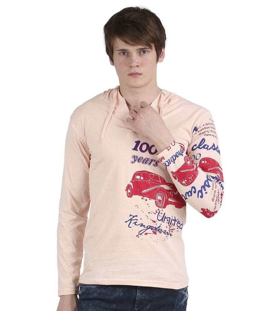 Tease Denim Pink Cotton T-shirt