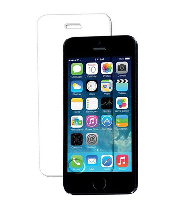 Apple iPhone 5 Tempered Glass  Screen Guard by Vraga