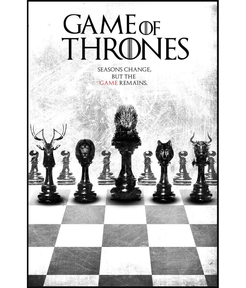 Oyeposter Game Of Thrones Black White Poster Buy