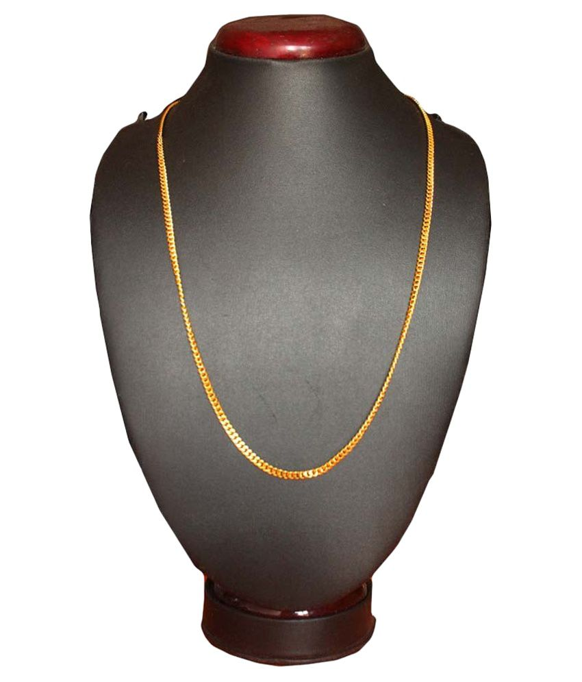 Gluke Traders Gold Plated Alloy Chain