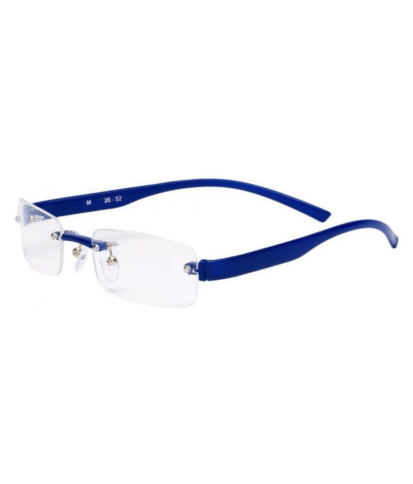 New Zovial Blue Rimless Frame Eyeglasses - Buy New Zovial ...