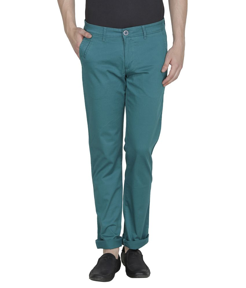 United Colors Of Benetton Green Slim Fit Casual Trouser Chinos