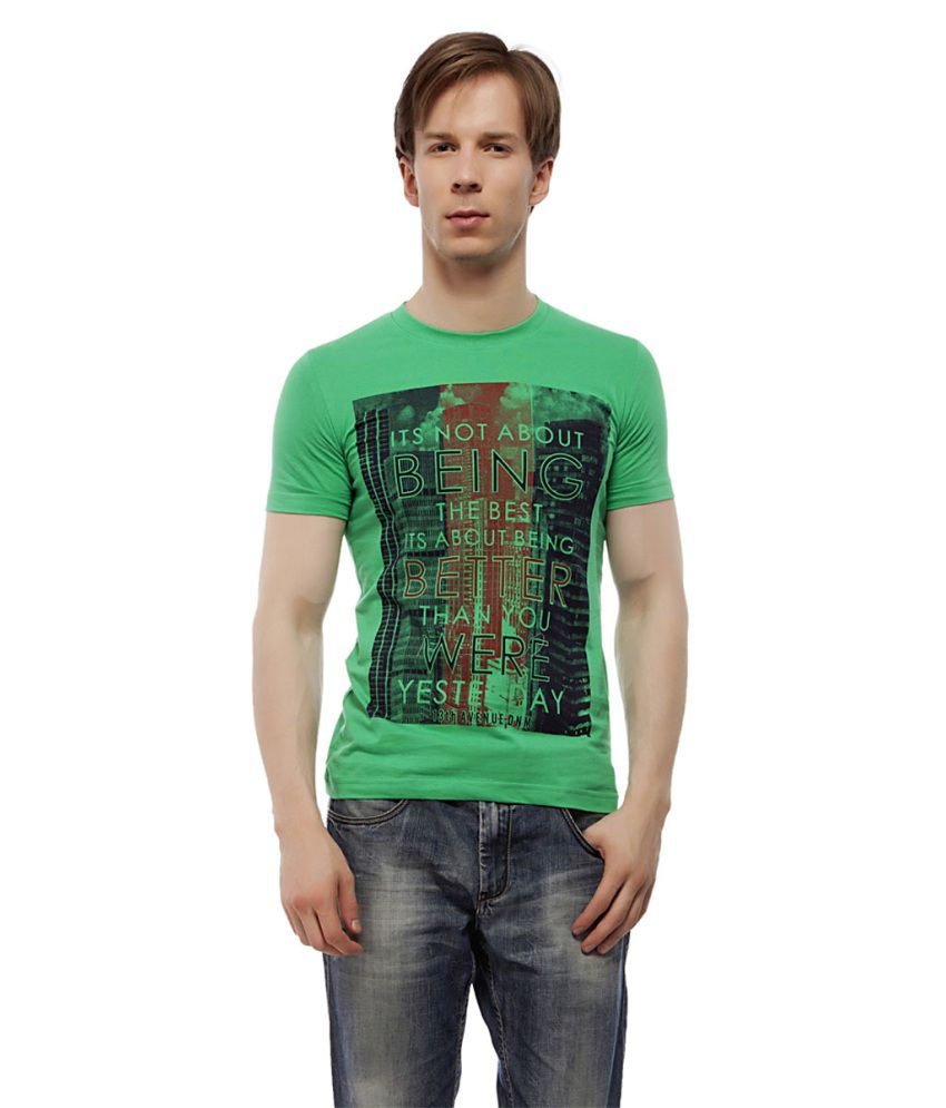 13th Avenue Green Cotton T-shirt