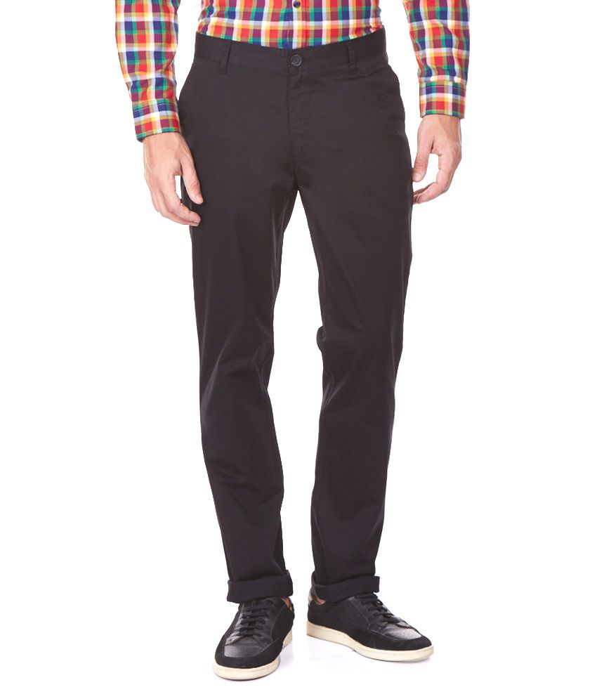 Aeron Black Slim Fit Causal Trouser