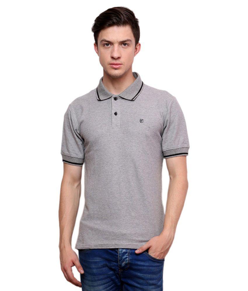 Ebry grey half sleeve basic polo t shirt buy ebry grey for Full sleeve polo t shirts