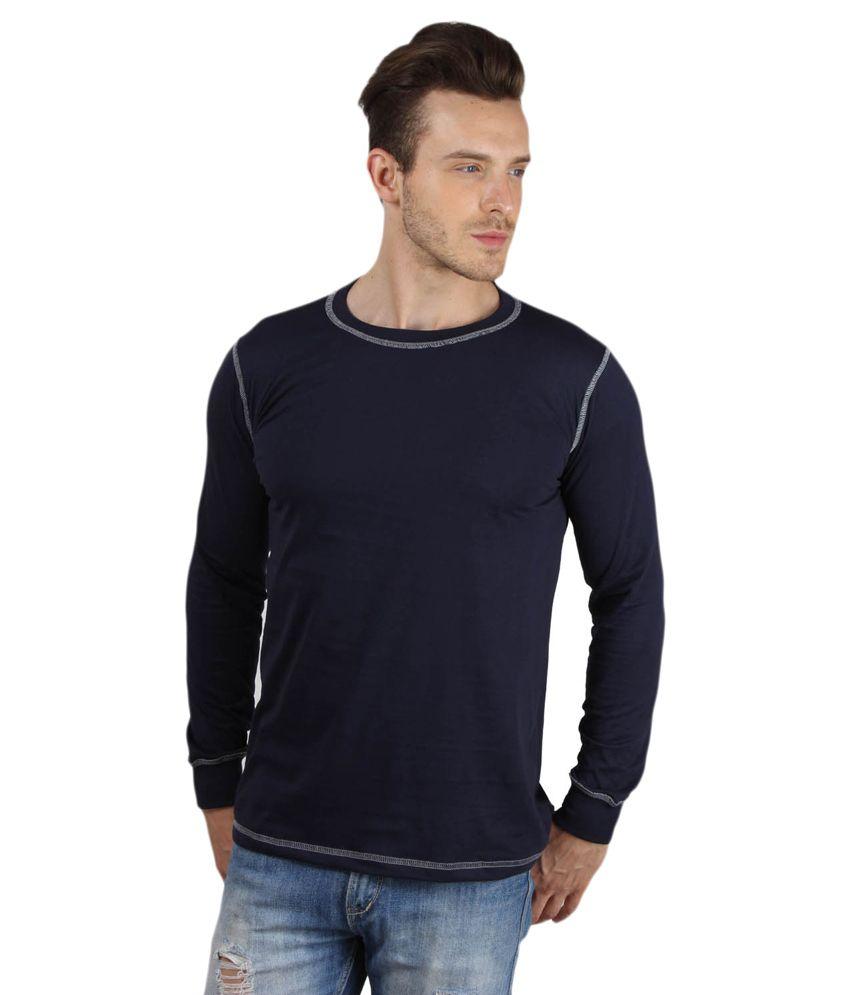 Sayitloud Navy Blue 100 Percent Cotton T-Shirt