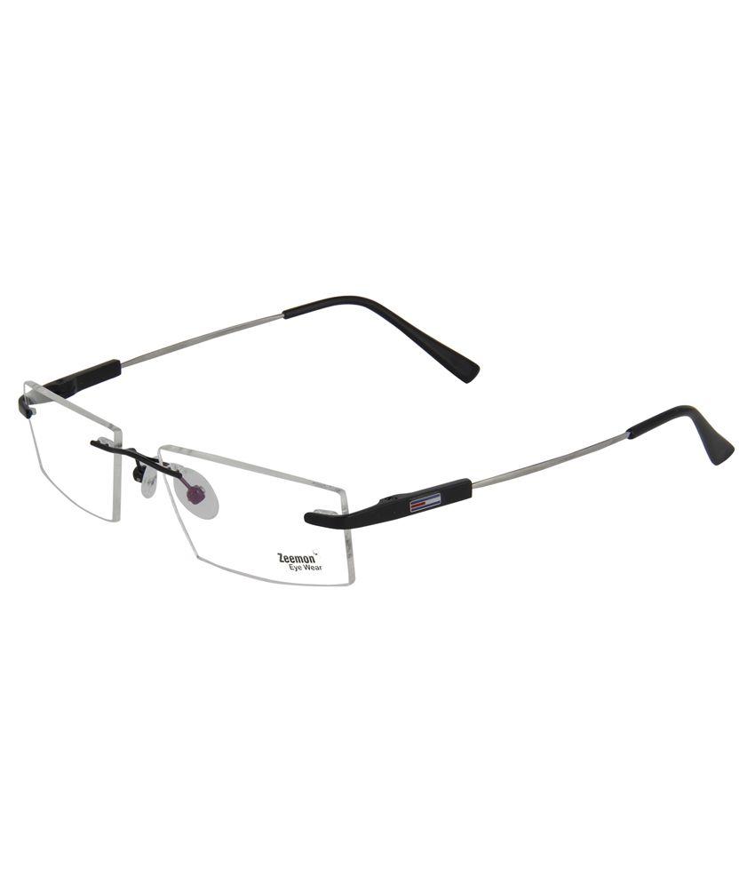 Zeemon Black Metal Rimless Eyeglasses Frame - Buy Zeemon ...