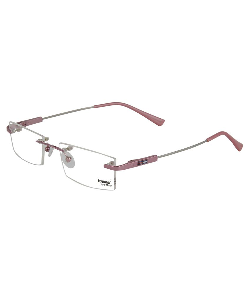 Zeemon Pink Metal Rimless Eyeglasses Frame - Buy Zeemon Pink Metal Rimless  Eyeglasses Frame Online at Low Price - Snapdeal 595a8f8dd85a