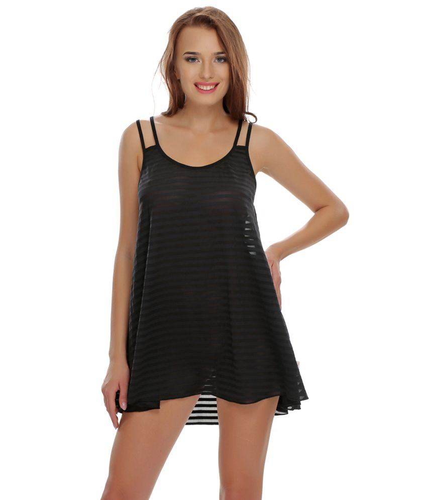 3d69150f89 Buy Clovia Sexy Black Flared Nightwear Online at Best Prices in India -  Snapdeal