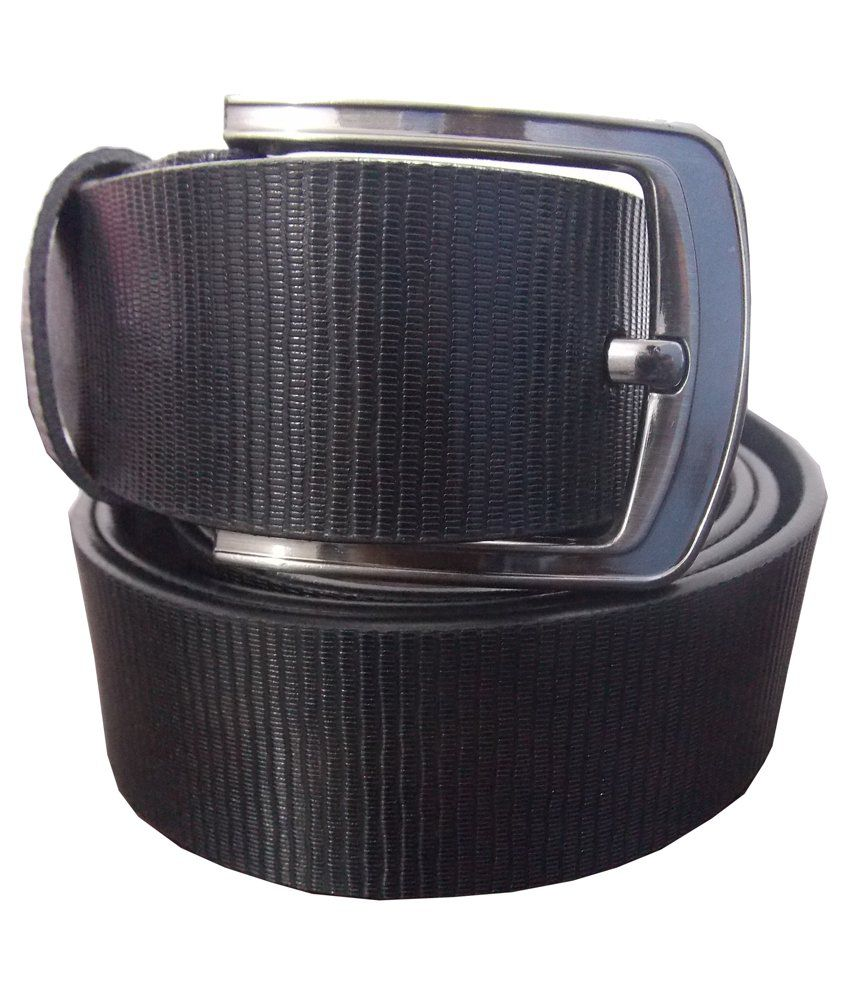 Ekora Black Leather Pin Buckle Belt