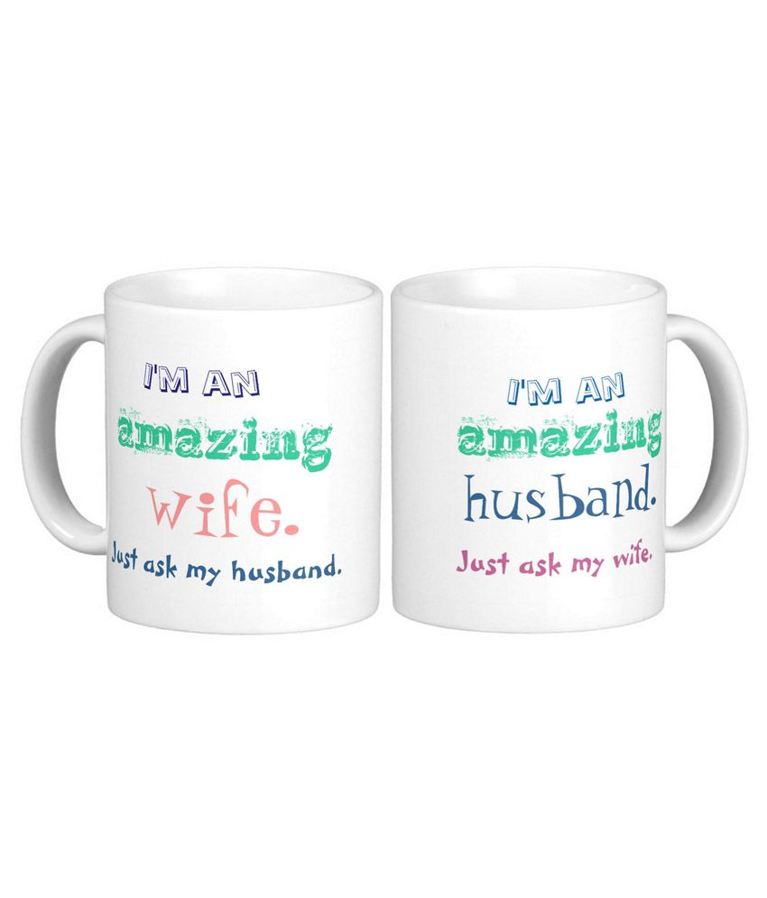 Exotic Silver Love Couple Mugs with Anniversary & Funny