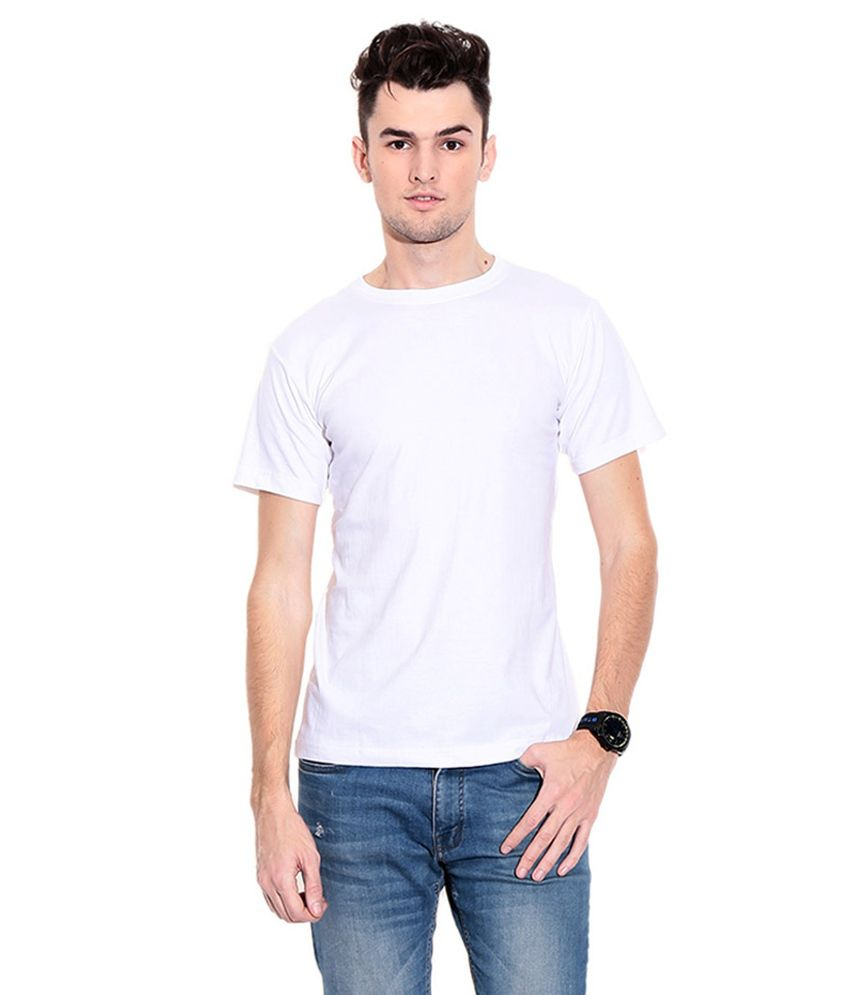 F&F White Cotton Blend T Shirt