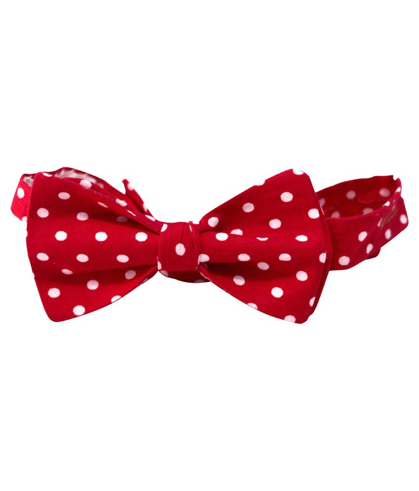Indian Bow Tie Company Red Cotton Bow Tie