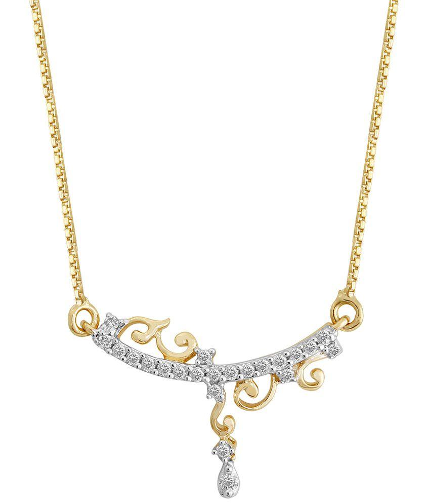 Nirvana 18 Kt Gold & Diamond Contemporary Necklace