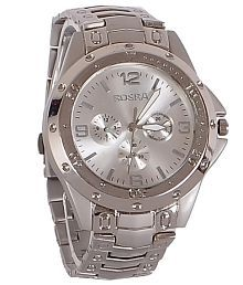 Rosra Silver Steel Analog Watch