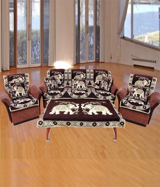 FK 6 Seater Velvet Set of 11 Sofa Covers Buy FK 6 Seater Velvet