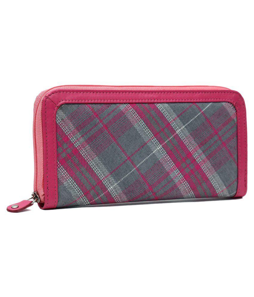 Kalonji Pink Designer Long Wallet