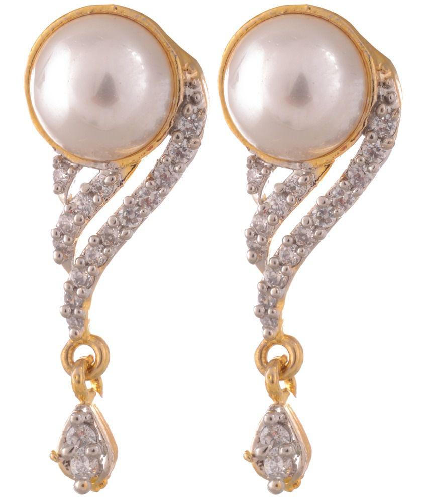 Sixmeter Jewels Red Alloy Drop Earrings