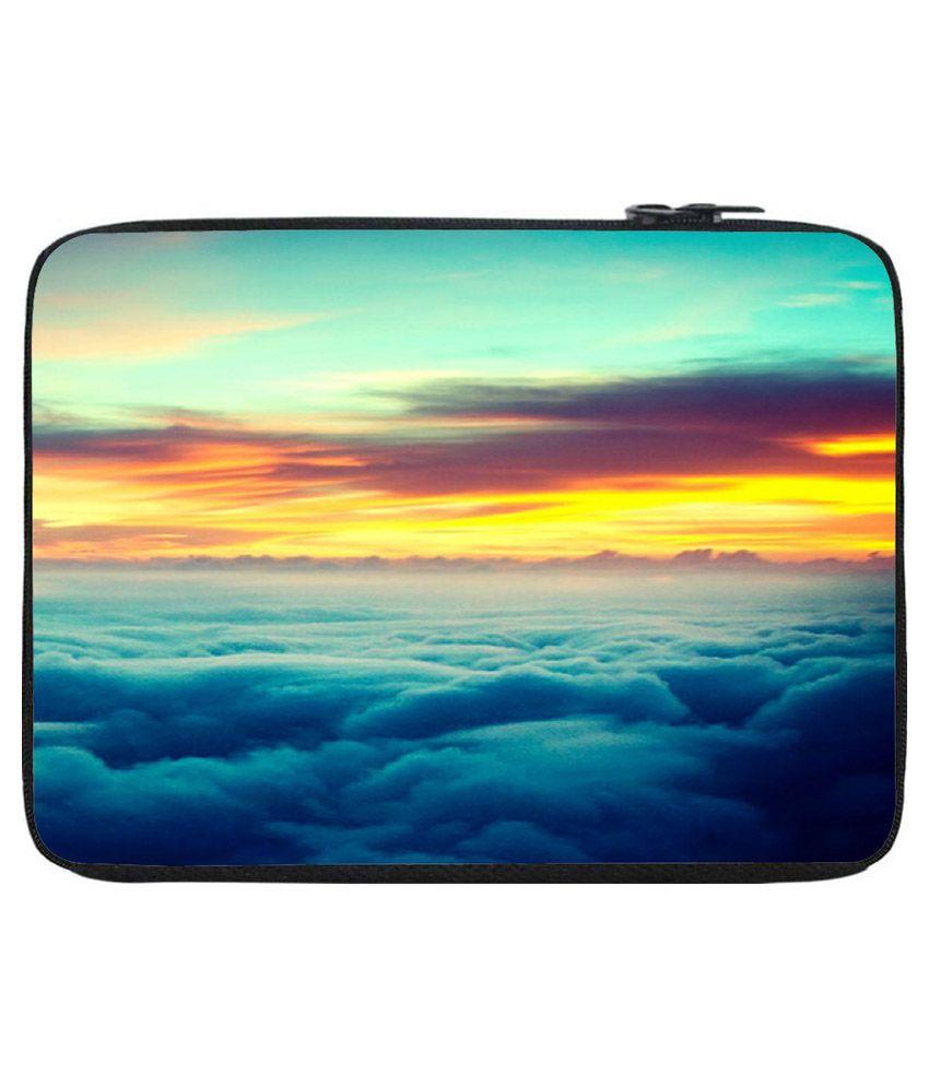 Snoogg Multicolour Polyester Laptop Bag