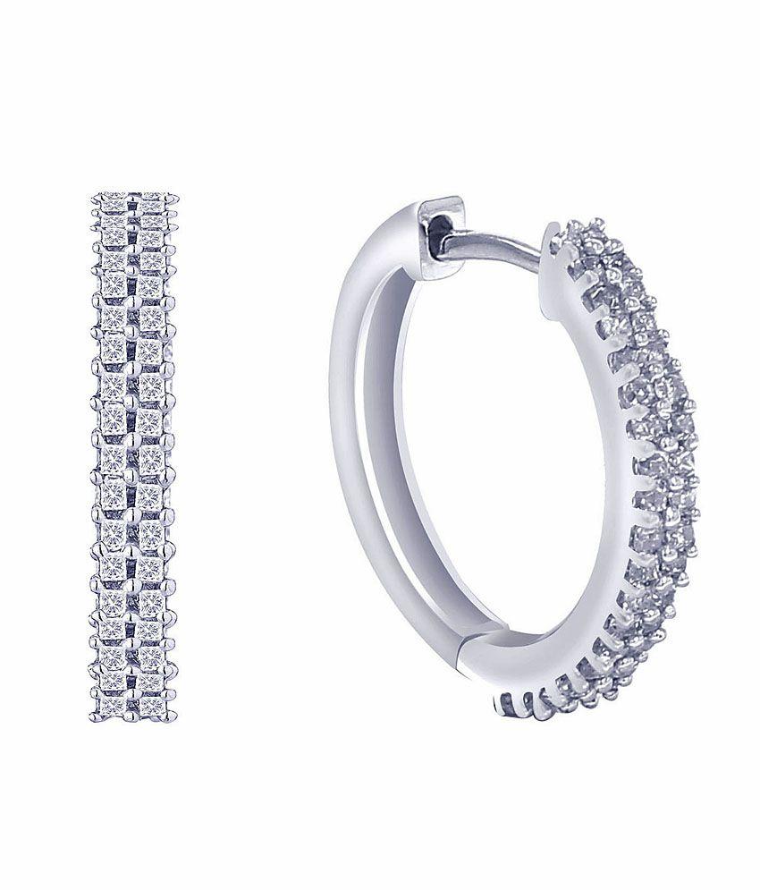 G'Divas Shraddha Kapoor 18 Kt Gold & Diamond Contemporary Stud Earrings