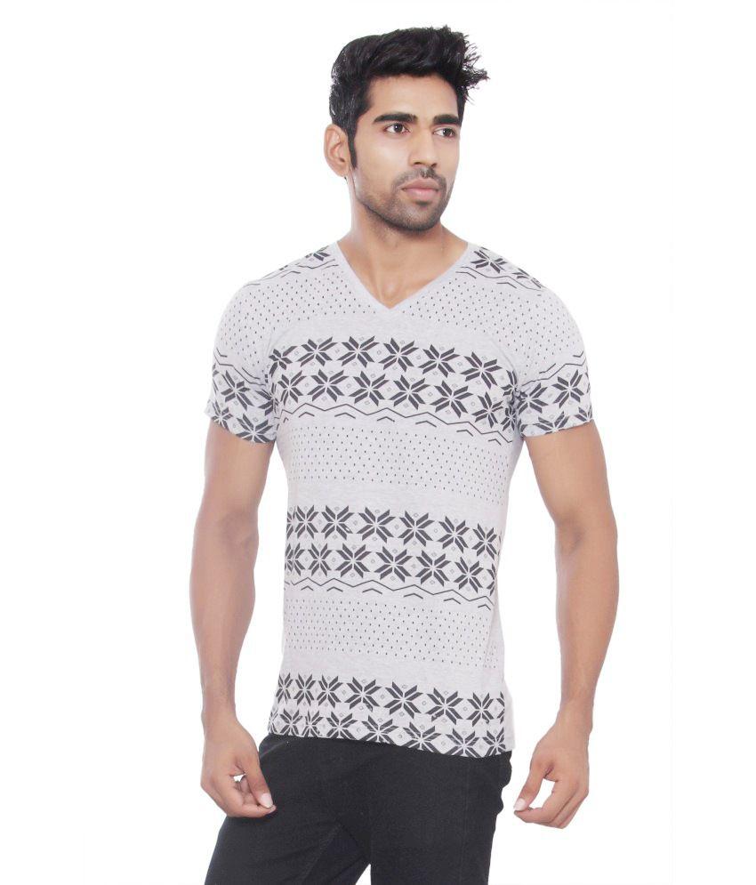 Osho Fashion Concepts Grey Cotton T Shirt