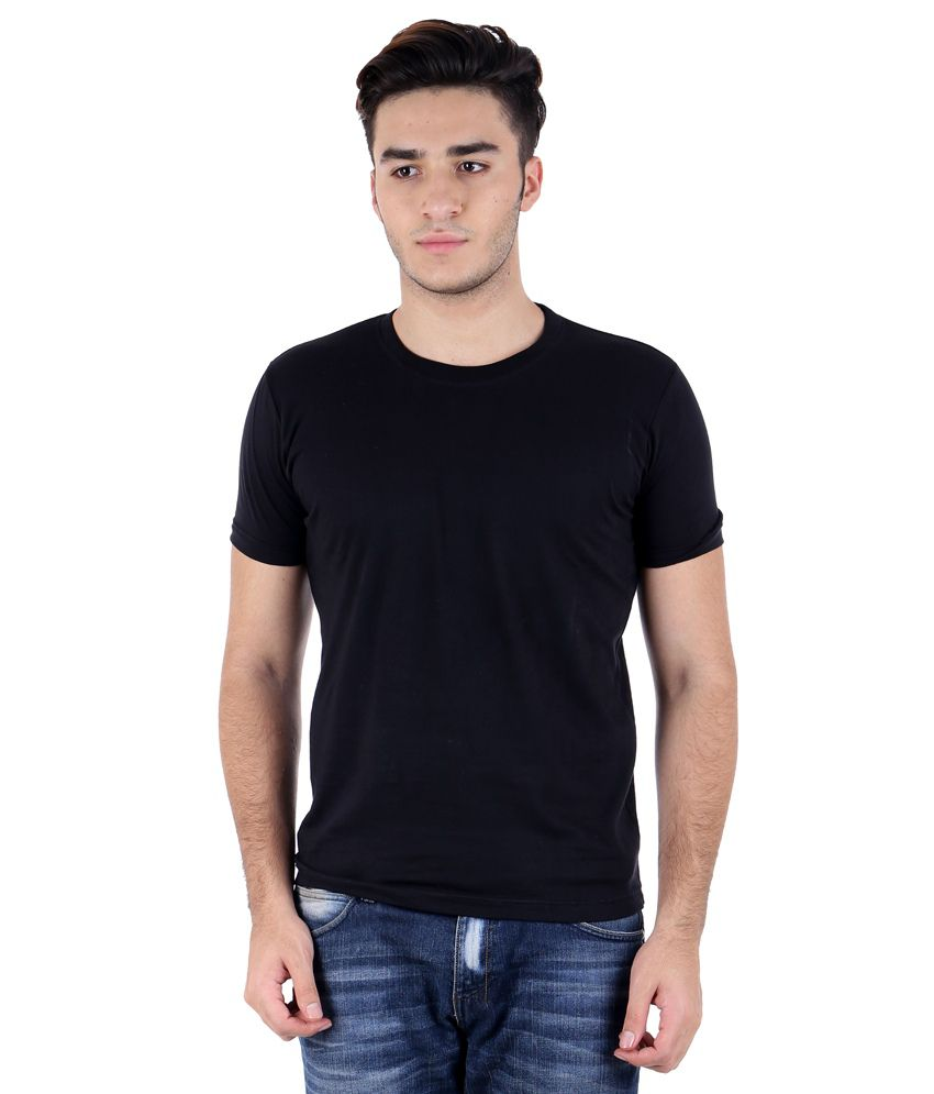 Perfect 10 black cotton blend t shirt buy perfect 10 for Perfect black t shirt