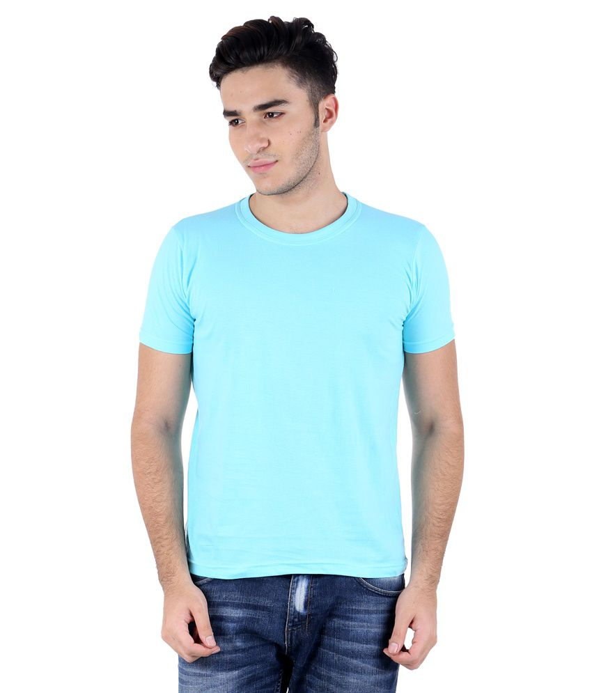 Perfect 10 Turquoise Cotton Blend T-Shirt