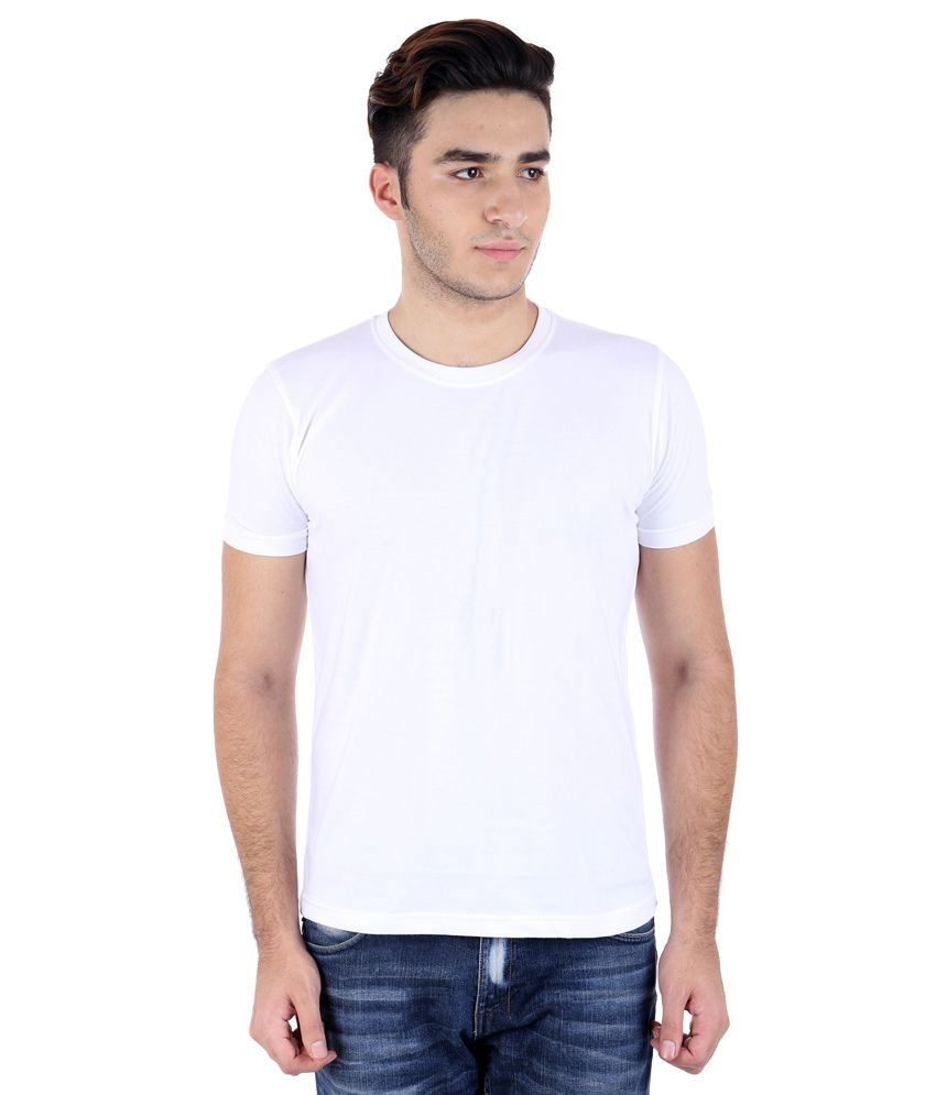 Perfect 10 White Cotton Blend T-Shirt