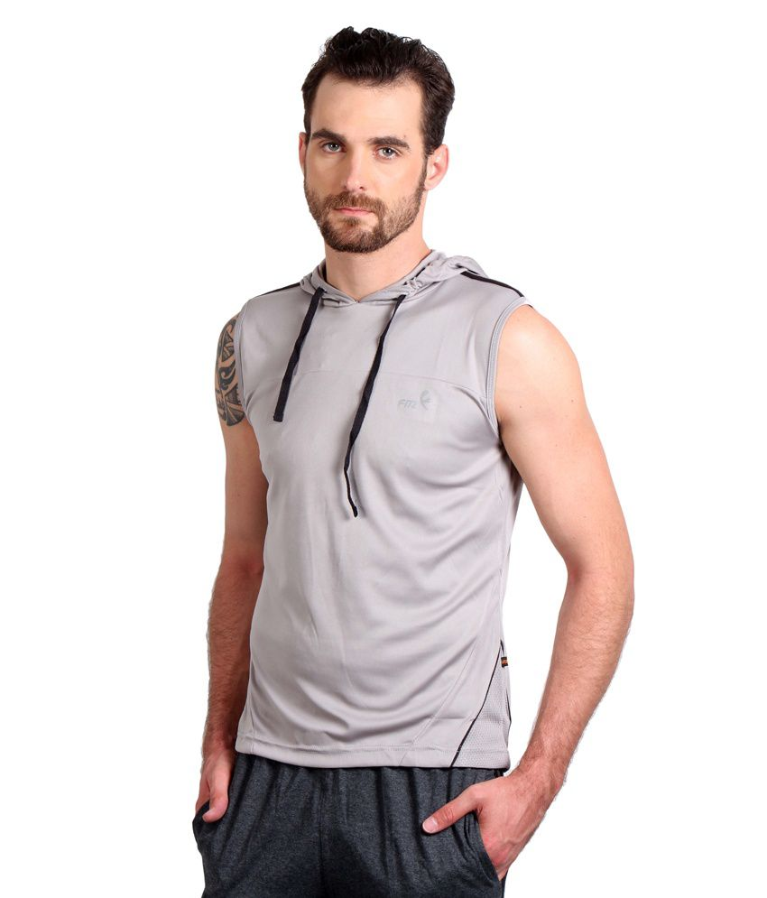 Fitz Grey Polyester T-shirt