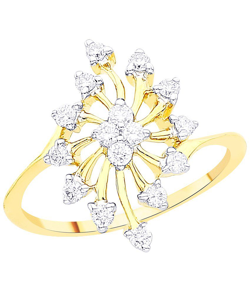 Gili 18 Kt Gold & Diamond Floral Ring