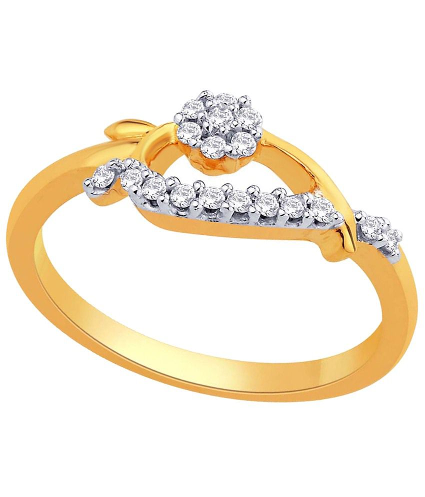 Sangini 18 Kt Gold & Diamond Floral Ring