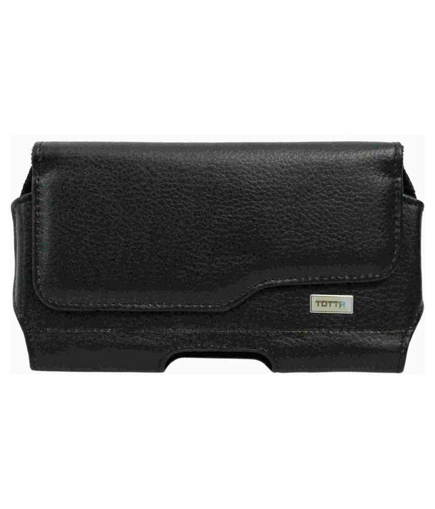 Totta Leather Case Cover Pouch For Lenovo A859-black