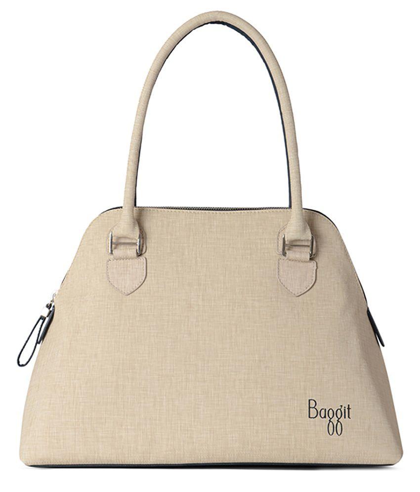 Baggit Creator Charles White Satchel Bag - Buy Baggit Creator ...
