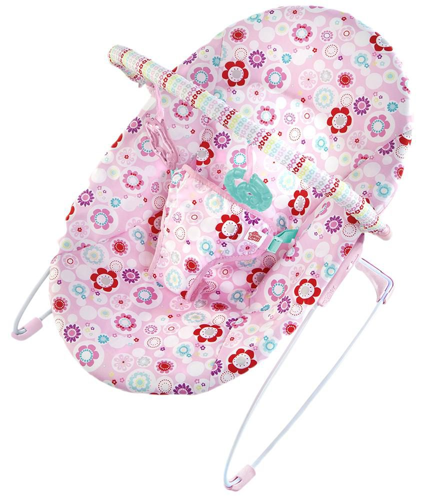 Bright Starts Pink Bouncer Comfort Ampamp Harmony Portable Swing Blossomy Blooms Bouquet Surprise Baby Buy 850x995
