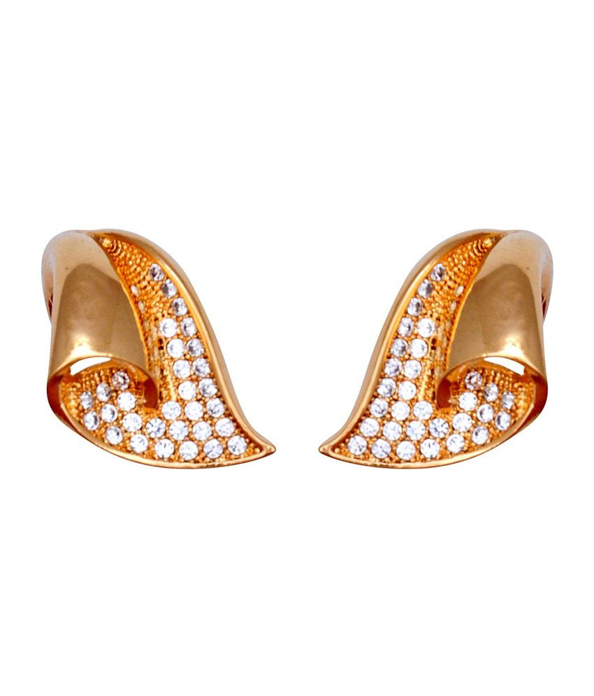 Kushal's Gold Silver Alloy Stud Earrings