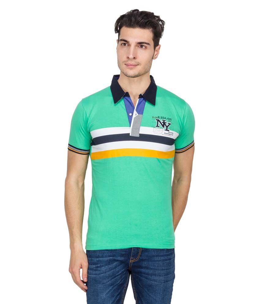 Vidyuth Traders White Half Sleeves Basic Polo T-shirt