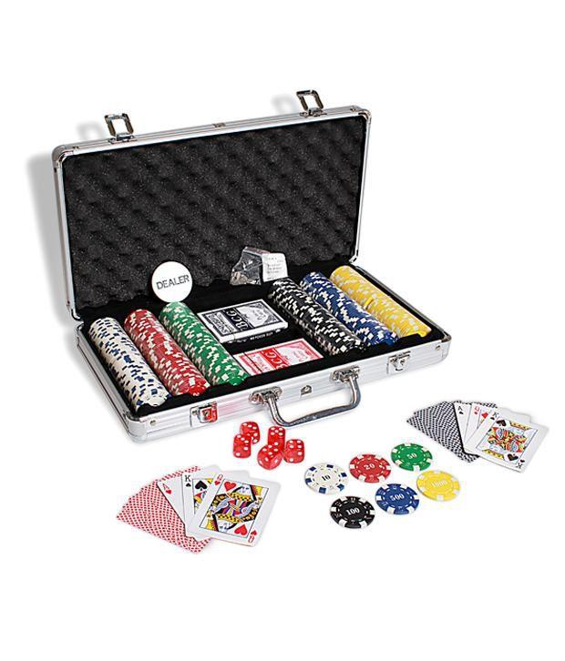Casinoite - Diced Poker Chipset With Printing 300 Pcs & Freebie: Card Shuffler