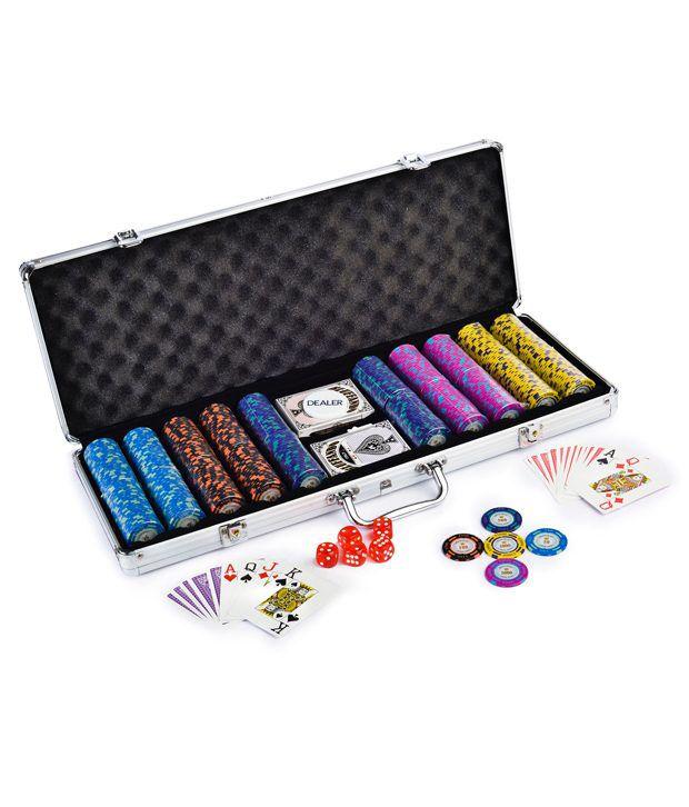 Casinoite Luxuria Monte Carlo Poker Chips Set 500 & Freebie: Card Shuffler