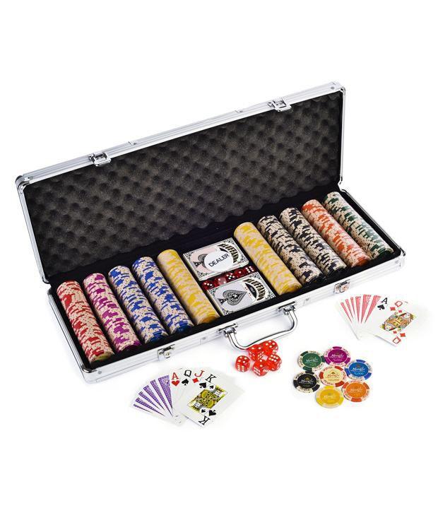 Casinoite Monte Carlo Poker Clay Chips 500 & Freebie: Card Shuffler