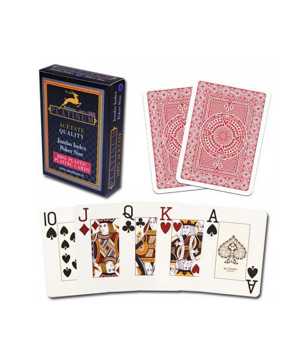 Modiano Platinum Playing Cards Red
