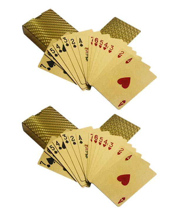 Casinoite Poker Gold Cards (Pack of 2)