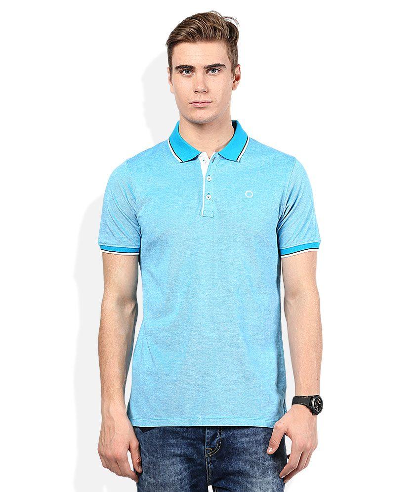 Proline Blue Solid Polo T Shirt