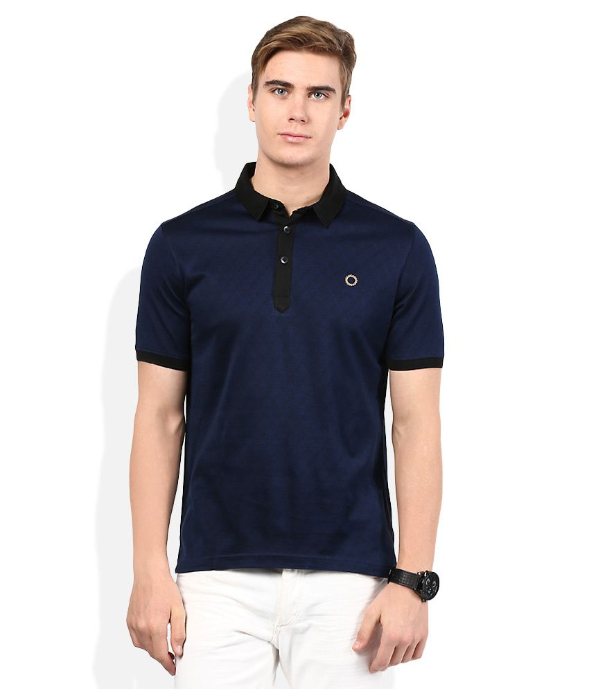 Proline Blue Solid Polo T Shirt