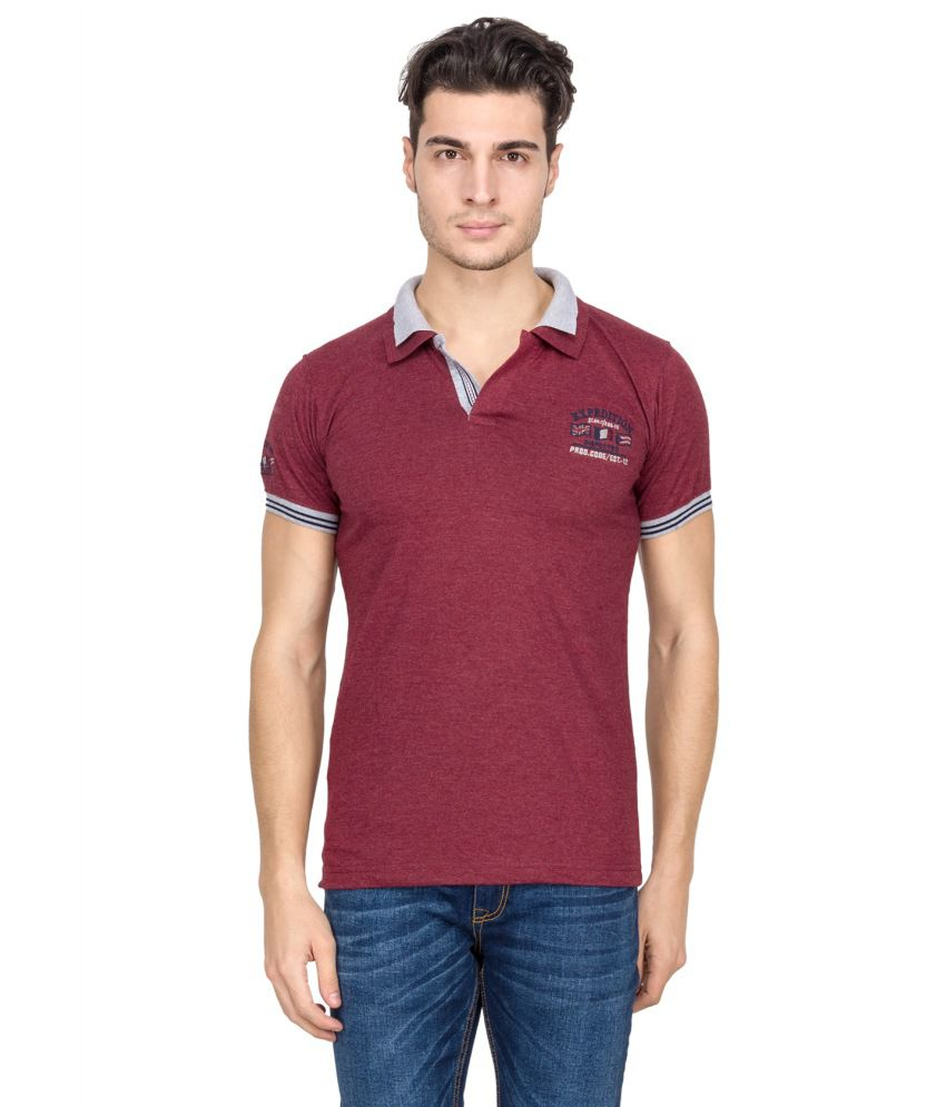 V9 Purple Half Basics Polo T-shirt