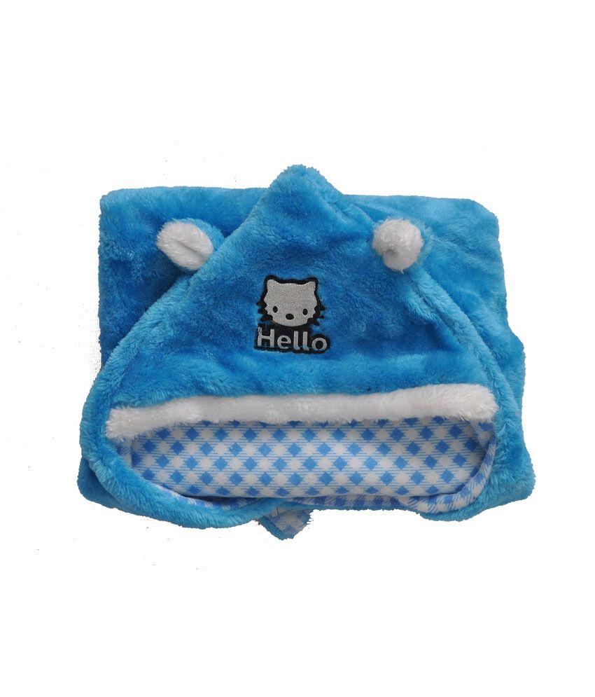 Silver Stone Blue Glacier Fur Baby Wrap Blanket