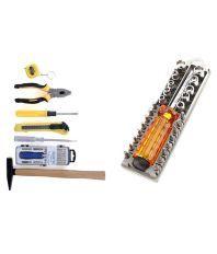 Edeal Tk-25 Pcs Home Hand Tool Kit & 28 Pcs Combination Screwdriver Set