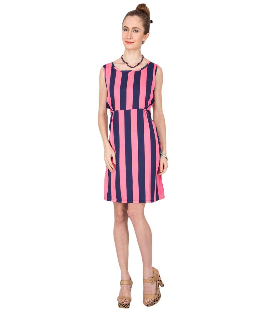 Kaxiaa Pink & Blue Casual Dress