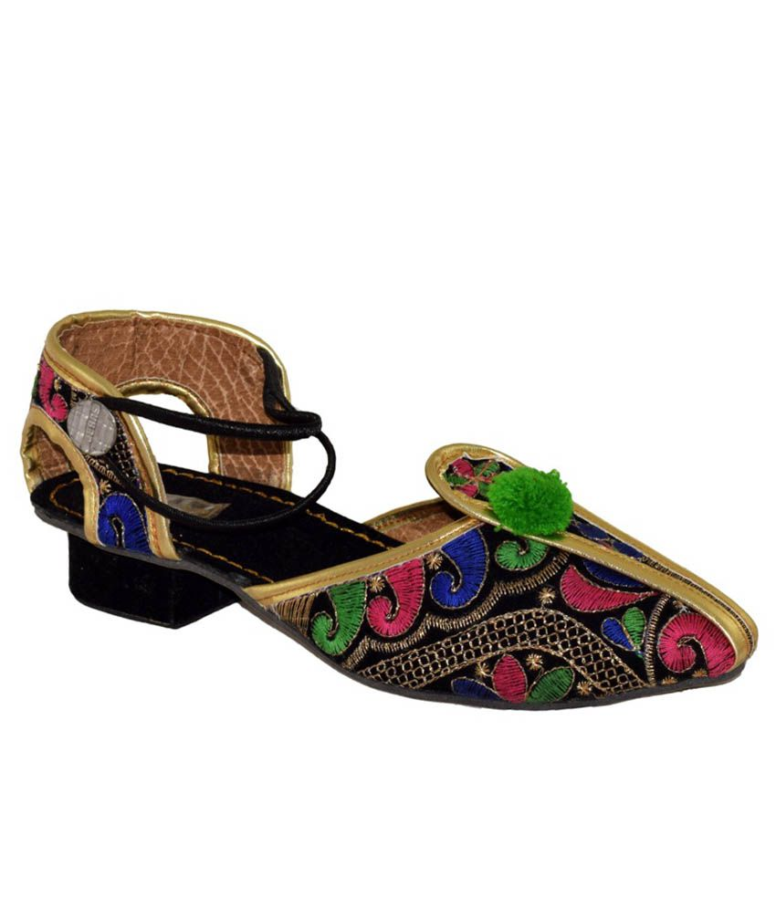 Yatha Multicoloured Block Heeled Sandals