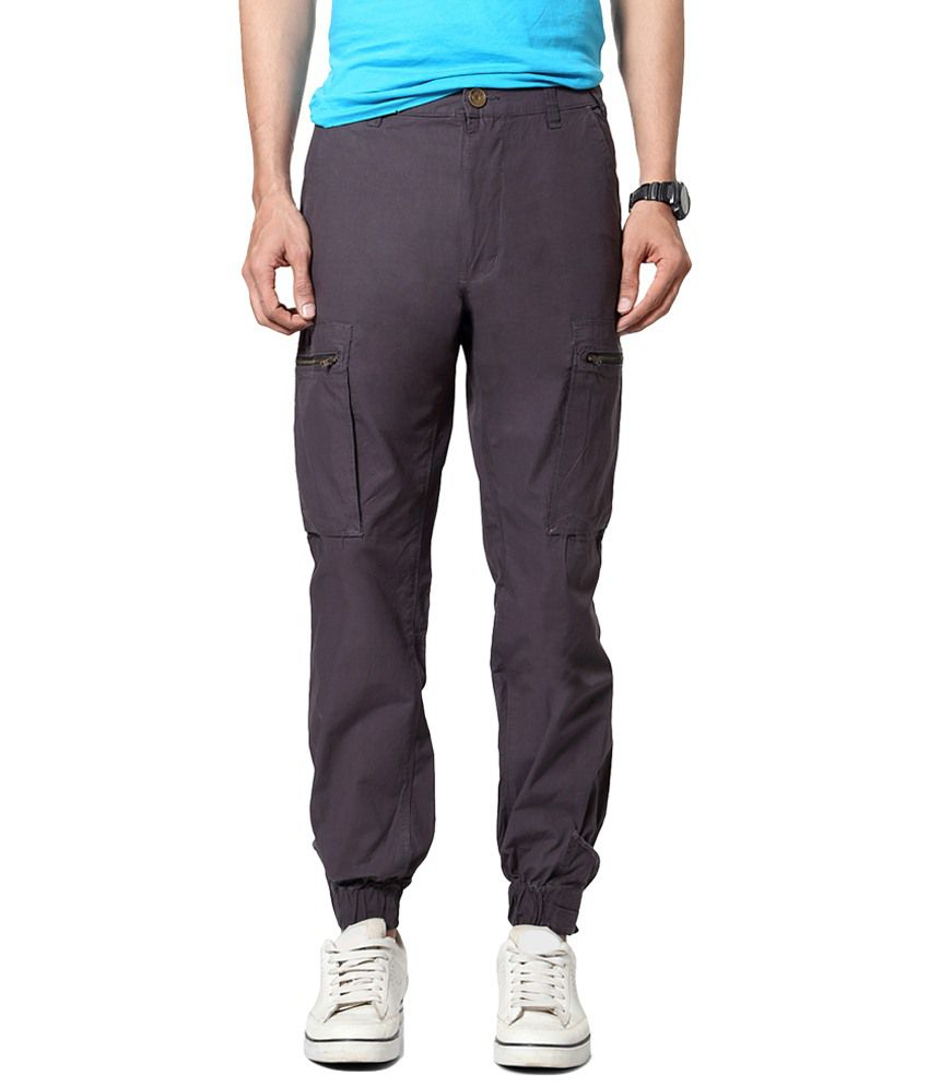 People Gray Casual Hipster Cargos