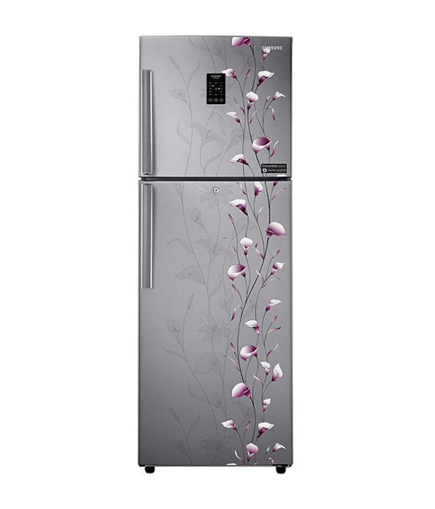 Samsung 253 Ltr 3 Star RT27JSMSASZ Double Door Refrigerator - Tender Lily Silver